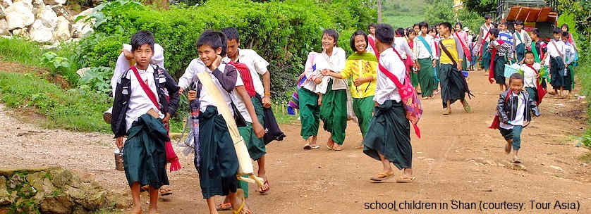 Myanmar (Shan)'s School holiday calendar
